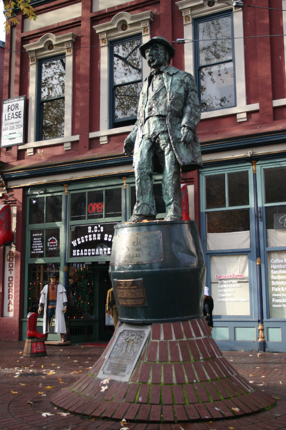 Gassy Jack Deighton statue Gastown Vancouver, BC, Canada